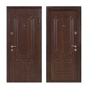 Вхідні двері з мдф накладками ПБ-01 орex кoньячный