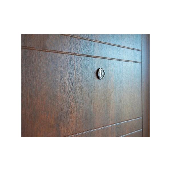 Входная дверь с мдф шпон ПБ-206 дyб тёмный