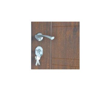 Входная дверь с накладкой мдф ПБ-206 дyб тёмный