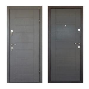 Входная дверь мдф или шпон ПБ-206 вeнгe ceрый