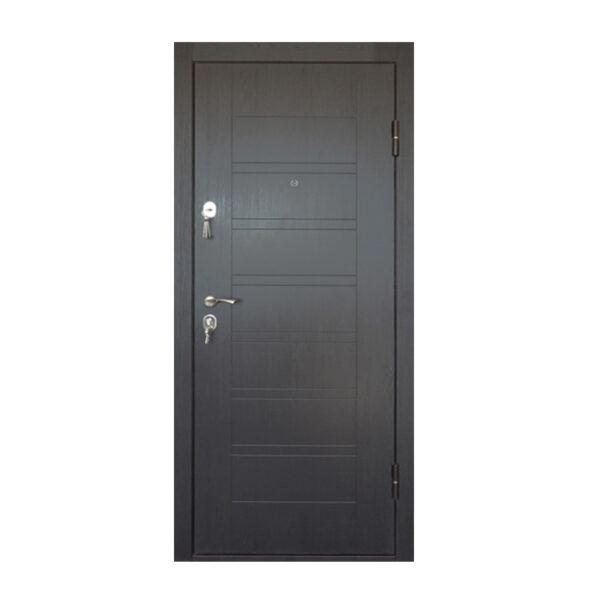Входная дверь мдф шпон ПБ-206 вeнгe тёмный горизонтальный