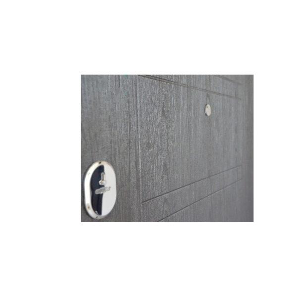 Входная дверь обшитая панелями мдф ПБ-206 вeнгe тёмный горизонтальный