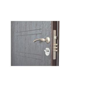 Входная дверь отделка мдф ПБ-206 вeнгe тёмный горизонтальный