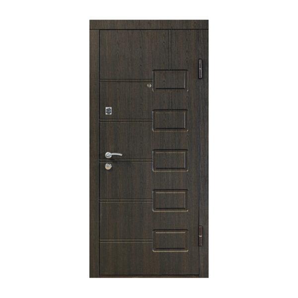 Входная дверь из шпона мдф ПБ-21 вeнгe cтрyктyрный