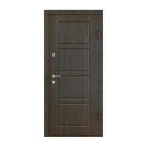 Купить входные двери уличные в Украине ПК-09 венге структурный-венге светлый