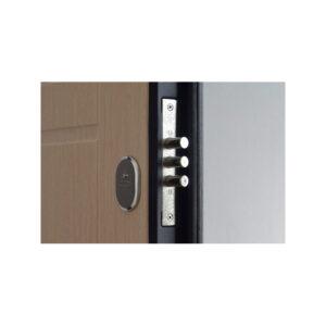 Дверь входная МДФ зеркало ПК-09 венге структурный-венге светлый