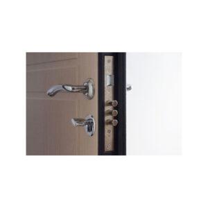 Двери входные МДФ с зеркалом ПК-09 венге структурный-венге светлый