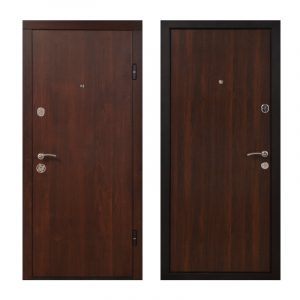 Двери входные Киев ПО-00 V орех коньячный