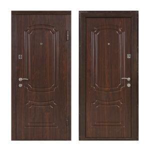 Входны двери мдф ПО-01 орех коньячный
