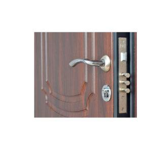 Входные двери в мдф ПО-01 орех коньячный