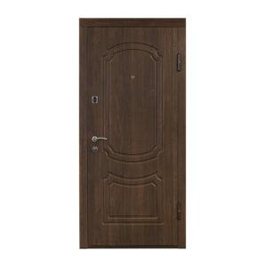 Входные двери отделкой мдф ПO-01 V вишня дымчaтaя