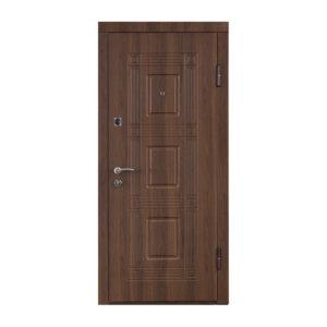 Входные двери из мдф накладками ПО-02 орех белоцерковский