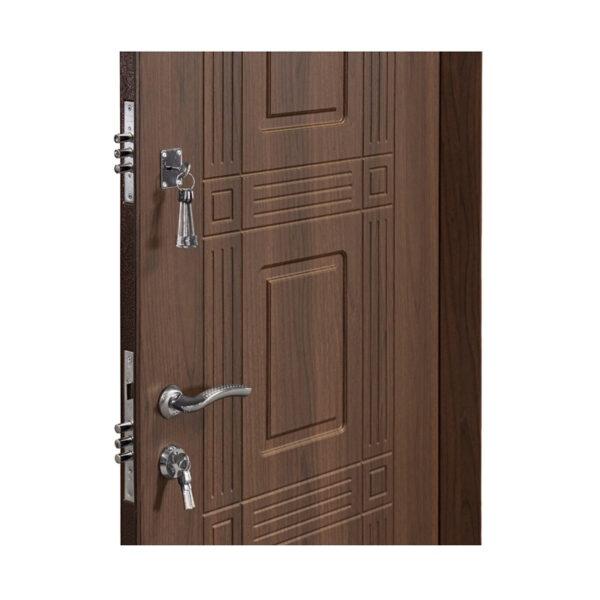 Входные двери из мдф панелей ПО-02 орех белоцерковский