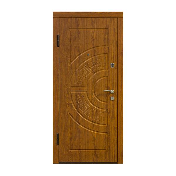 Входные двери контур мдф ПO-08 дуб золотой