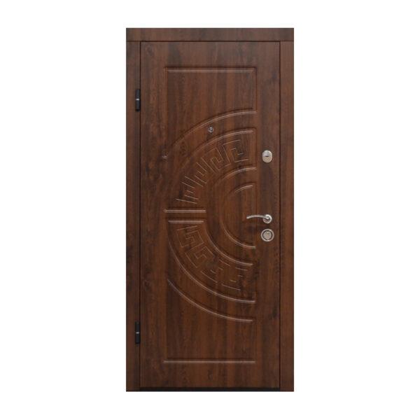 Двері вхідні метал та МДФ ПО-08 V дyб тёмный