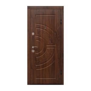 Дверь входная железная из МДФ ПО-08 V дyб тёмный