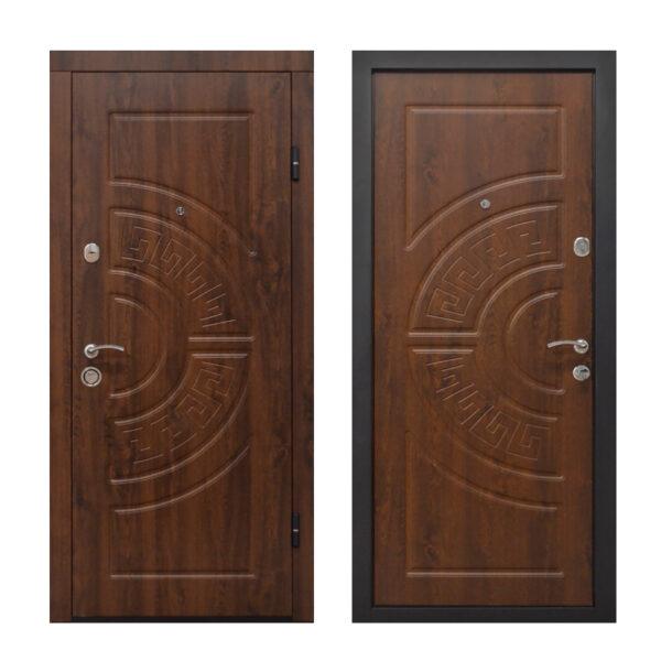 Входная дешевая дверь с МДФ ПО-08 V дyб тёмный
