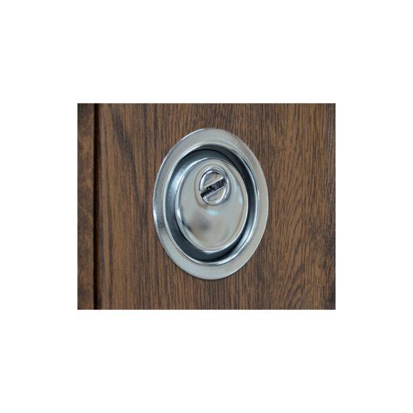 Дверь входная МДФ 5 ПО-08 V дyб тёмный