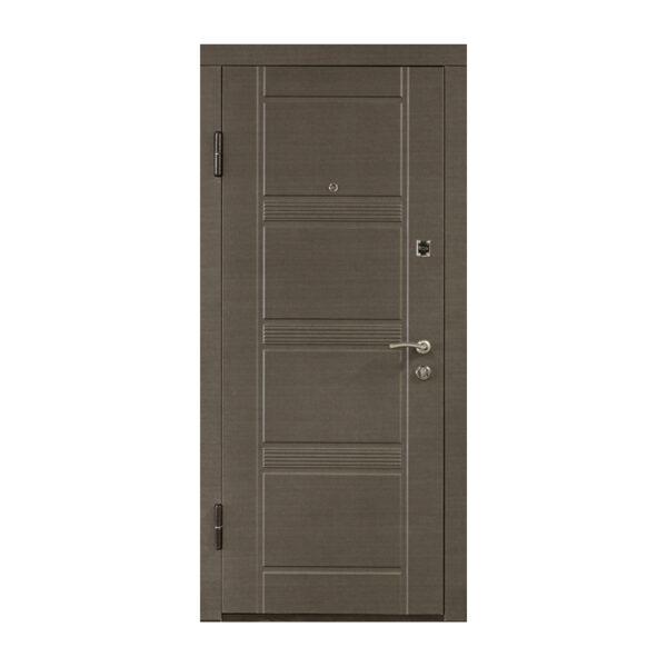 Входные двери мдф пвх ПО-29 венге серый горизонтальный