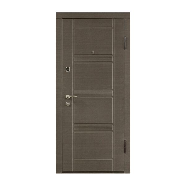Входные двери мдф от производителя ПО-29 венге серый горизонтальный