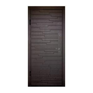 Входные двери накладки мдф ПO-66 Q венге горизонтальный тёмный