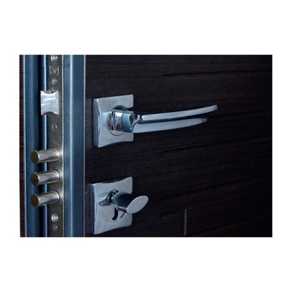 Входные двери мдф шумоизоляция ПO-66 Q венге горизонтальный тёмный