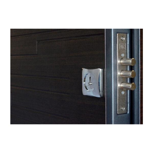 Входные двери мдф шпонированные ПO-66 Q венге горизонтальный тёмный