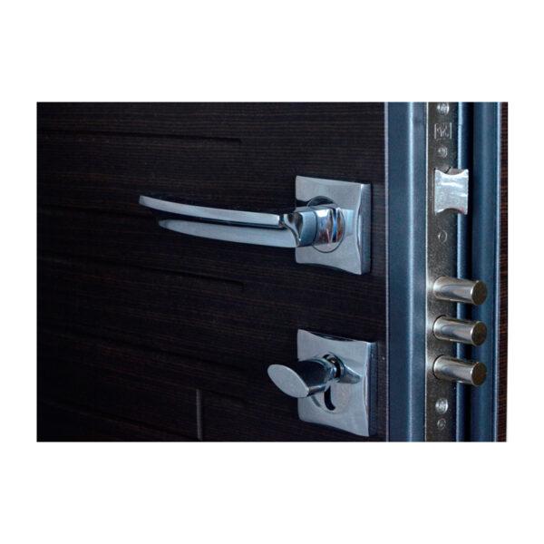 Входные двери мдф шпон ПO-66 Q венге горизонтальный тёмный