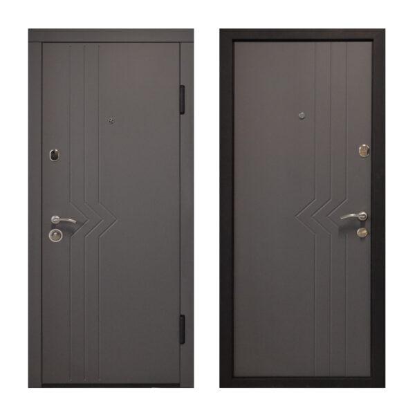 Дверь входная Днепр ПО-97 софт серый тёмный