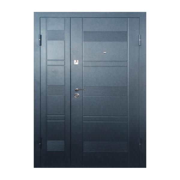 Дверь входная двойная ПУ-132 венге серый горизонтальный