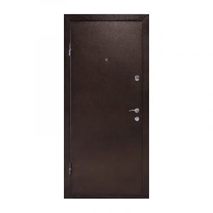 Входную дверь с мдф ПУ-01 орех коньячный