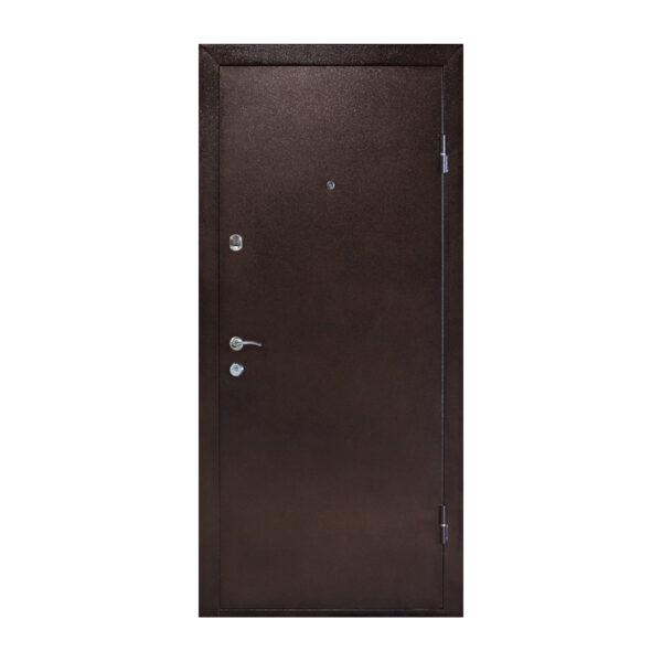 Входные двери с мдф накладками ПУ-01 орех коньячный