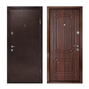 Входные двери с мдф накладкой ПУ-01 орех коньячный