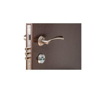 Входные двери с мдф панелью ПУ-01 орех коньячный