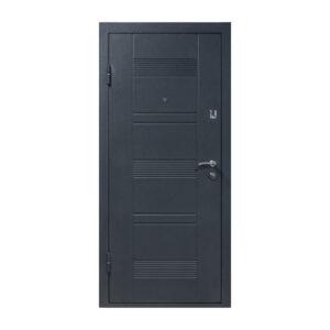 Двери входная мдф ПУ-132 венге серый горизонтальный