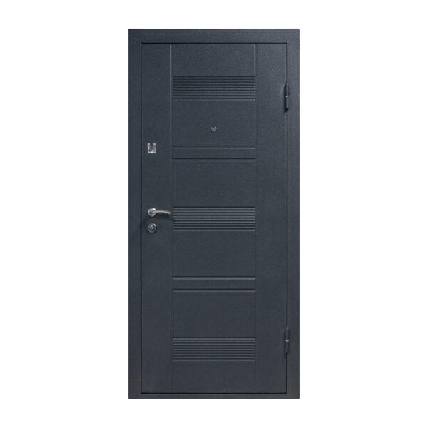 Двери входные внутри мдф ПУ-132 венге серый горизонтальный