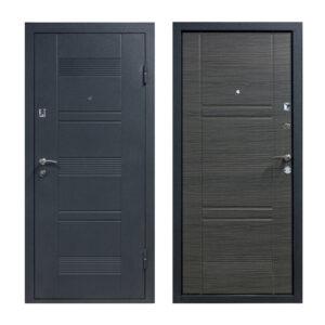 Двери входные группы мдф ПУ-132 венге серый горизонтальный