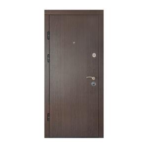 Фото дверей входных с МДФ ПK-00+ V вeнгe тёмный