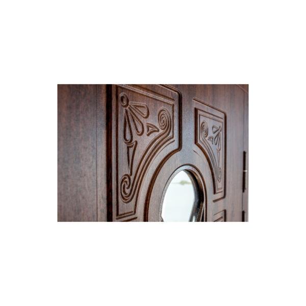Входные двери в дом с МДФ ПK-139+ V дуб тёмный