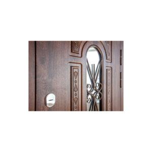 Входные двери МДФ в загородный дом ПK-139+ V дуб тёмный