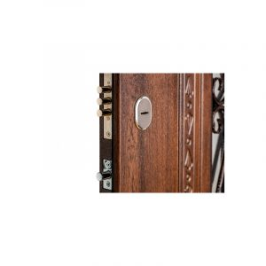 Входные двери МДФ в частный дом ПK-139+ V дуб тёмный