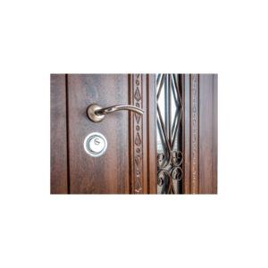 Входные двери с фасадом МДФ ПK-139+ V дуб тёмный