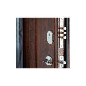 Дверь входная в дом МДФ ПK-139+ V дуб тёмный