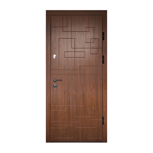 Дверь входная мдф фото ПK-157+ дyб тёмный