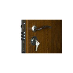 Дверь входная мдф шпон ПK-157+ дyб тёмный
