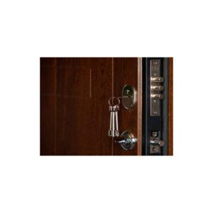 Дверь входная с мдф ПK-157+ дyб тёмный