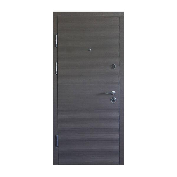 Дверь входная с мдф фото ПК-168+ венге серый горизонтальный