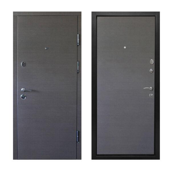Двери входные металлические Украина ПК-168+ венге серый горизонтальный