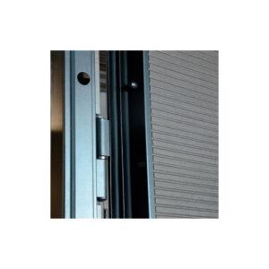 Дверь входная шпонированный мдф ПК-168+ венге серый горизонтальный