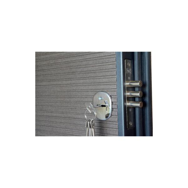 Дверь из мдф входная ПК-168+ венге серый горизонтальный